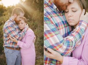 sun flair shot of of engagement session in macon warner robins ga area